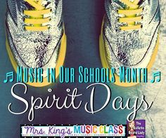 Spirit Days for MIOSM by Tracy King - Oh my goodness!  My students would LOVE music dress up days!  This post has some for genres, decades and a bunch of misc ideas that would work well with K-12.