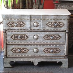 Furniture From Paradise - Syrian mother of pearl chest of drawers.