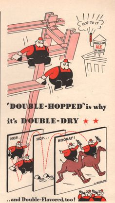 1942 Pabst Blue Ribbon Ale print ad Double Hopped beer by Vividiom, $7.00