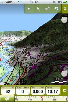 App TwoNav Outdoor GPS - 3D relief