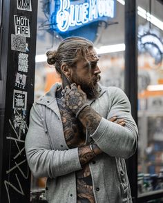 Gorgeous Men, Beautiful Boys, Hot Guys Tattoos, Bearded Tattooed Men, Hunks Men, Inked Men, White Boys, Melancholy, Cute Guys