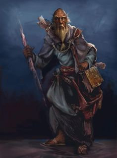 Concept art for Diablo 3: Deckard Cain character