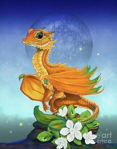 Orange Dragon Digital Art by Stanley Morrison
