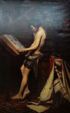 https://flic.kr/p/FKStdy | Jules Ziegler, Giotto dans l'atelier de Cimabue | vers 1847,  Huile sur toile,  160 x 130 cm,  Musée des Beaux-Arts, Bordeaux