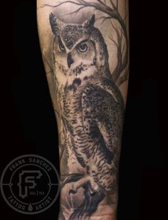 Realistic Owl Portrait Tattoo                                                                                                                                                                                 More