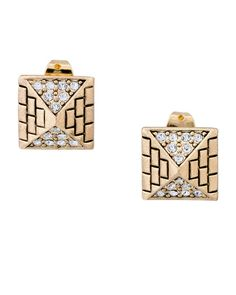 Pyramid Pave Earrings
