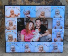Baby's First Year Collage Picture Frame by DesignsByPictureThis, $48.00