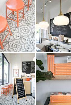 design elements inside jeni's ice cream shop / sfgirlbybay