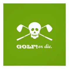 Sports Wedding Invitations Retirement Party - Golf Theme - Golf or Die! Card
