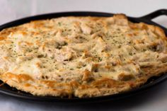 Chicken Pizza with White Sauce--Fructose Malabsorption Recipes