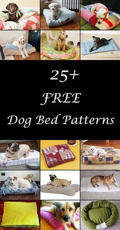 DIY dog beds. Dog bed sewing patterns & tutorials. How to make a homemade dog bed, pillow or cushion. Cute dog bed ideas. #dogbedpattern #dogbedpatterns #dogbeddiy