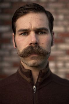 Moustache May - The Only Way To Celebrate May. Moustaches, Cool Mustaches, Scruffy Men, Hairy Men, Bearded Men, Bald Men With Beards, Beard No Mustache, Mustache Grooming, Vintage Man