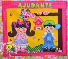 Uma graça esta decoração para sala de aula de Educação Infantil em e.v.a. feito pelo blog qmimo