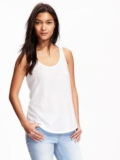 Relaxed Racerback Scoop-Neck Tank for Women