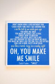 Uncle Kracker Smile Lyric Art Coaster by EvelynJay on Etsy, $8.00