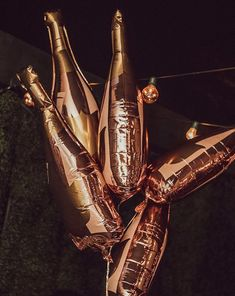 ae1c9bf80fe Shop Paper Confetti s exclusive customizable 36-inch rose gold champagne  bottle balloon.