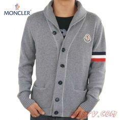 Moncler Hommes Classic Wool Sweater Gris