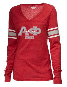 This junior Alpha Phi t-shirt will be a playful addition to any A-Phi wardrobe.
