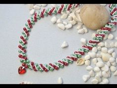 PandaHall Christmas Jewelry Making Video on Glass Pearl Beads Necklace - YouTube