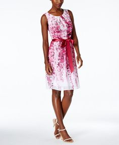 Connected Floral-Print A-Line Dress