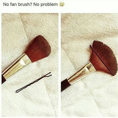 Não tem pincel vassourinha? Seus problemas acabaram!  . . . #repost #maquiagem #pincel #dica #makeup #makeupbrush #makeuptips #tips