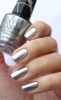 Silver Nails #NailPolish #Silver #Nails #O.P.I #Metallic