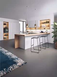 Premium LEICHT kitchens that are excellent value for money. Range consists of modern, traditional and individual kitchens. Kitchen Room Design, Modern Kitchen Design, Kitchen Layout, Home Decor Kitchen, Interior Design Kitchen, Home Kitchens, Kitchen Dining Living, Modern Kitchen Cabinets, Cuisines Design