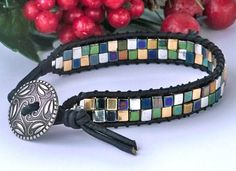 Boho Leather Wrap Bracelet Mans Wrap by HighestTideJewelry on Etsy