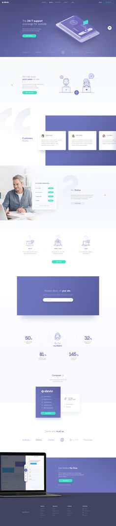 Dribbble elevio-landing-page.png by Martin Strba - Chatbot - The Chatbot Device which help to provide customer service in - Dribbble elevio-landing-page.png by Martin Strba Cool Web Design, Web Design Mobile, Creative Web Design, Web Ui Design, Web Design Trends, Website Layout, Web Layout, Layout Design, Branding