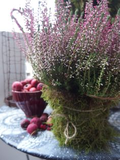 apples and heather....