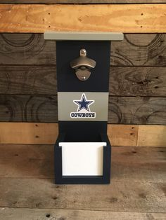 A personal favorite from my Etsy shop https://www.etsy.com/listing/456671244/dallas-cowboys-bottle-opener-with-cap