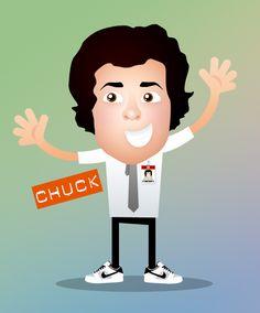 Chuck Bartowski - vector draw