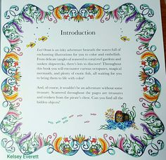 Johanna Basford's Lost Ocean coloring book colored by Kelsey Everett.