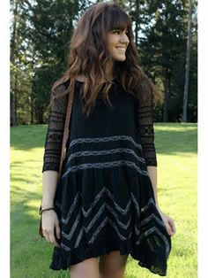 I have this dress in white from free people...I love this look...except with a cream top under, super cute