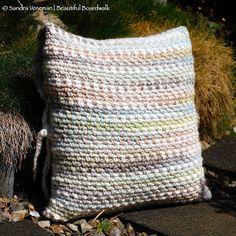 Beautiful Boardwalk: Linen stitch pillow