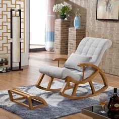 Inspiração: cadeira de balanço moderna e aconchegante para a sala de estar - ShopDesign