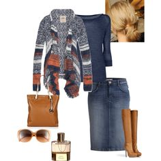 A fashion look from February 2013 featuring Hollister Co. sweaters, Le Silla boots and MICHAEL Michael Kors tote bags. Browse and shop related looks.