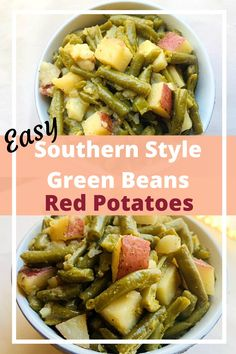 Simple Recipe For Southern Style Green Beans and Red Potatoes | Full of Bacon Flavor | Best Weeknight Side Dish #greenbeansand potatoes #greenbeansandbacon #cannedgreenbeanrecipesouthernstyle #southerngreenbeanrecipe #weeknightsidedish #vegetablesidedish