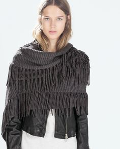 Image 2 of MULTI-FRINGED SCARF from Zara