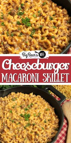 hamburger meat recipes How many of yall have tried to make Homemade Hamburger Helper before This Cheeseburger Macaroni Skillet is my version of that favorite childhood dinner! Hamburger Helper Maison, Homemade Hamburger Helper, Easy Recipes With Hamburger, Casseroles With Hamburger Meat, Dinner Ideas With Hamburger, Casseroles With Ground Beef, Hamburger Ideas, Healthy Hamburger, Hamburger Macaroni