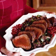 Roast Beef Tenderloin with Morel Cream Sauce