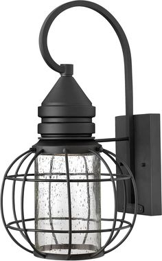 """0-016726>17""""""""h New Castle 1-Light Wall Outdoor Black"""