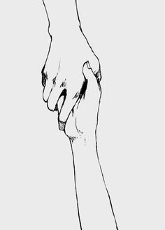hands, drawing, and holding hands Bild