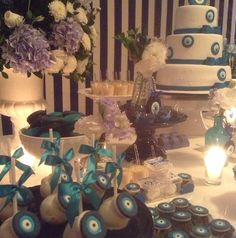 Turkish Wedding, Holidays And Events, Vanilla Cake, Sweets, Candy, Table Decorations, House, Wedding Blue, Mesas