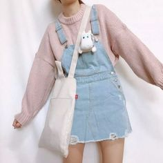 kawaii clothes Cute Korean outfits must be in your wardrobe because they are classy, casual and perfect for winter and summer. They are very similar to grunge outfits so Korean fashion is perfect for you. Pastel Fashion, Kawaii Fashion, Cute Fashion, Fashion Clothes, Fashion Outfits, Fashion Spring, Fashion Ideas, Clueless Fashion, Fashionable Outfits