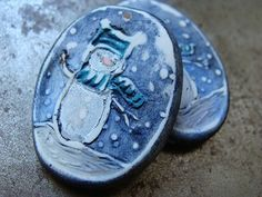 Snowman Pendant by humblebeads on Etsy, $15.00