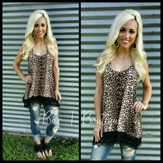 Leopard Lace Tunic ~ Follow @bar_t_boutique on Instagram  to Shop weekly New Arrivals