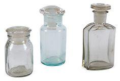 Antique Apothecary Bottles, Set of 3, II on OneKingsLane.com