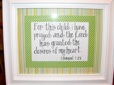 Delightful Handwritten Bible Verse I Made For A Dear Friend For A Baby Shower Gift, 8