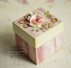 Paper Boxes, Exploding Boxes, Decoupage, Projects To Try, Decorative Boxes, Gift Wrapping, Box, Ideas, Tin Cans